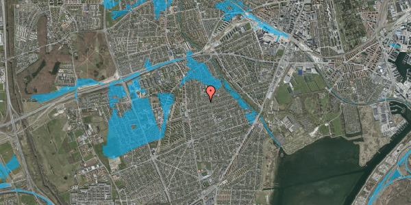 Oversvømmelsesrisiko fra vandløb på Bjeverskov Alle 30, 2650 Hvidovre