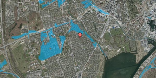 Oversvømmelsesrisiko fra vandløb på Bjeverskov Alle 32, 2650 Hvidovre