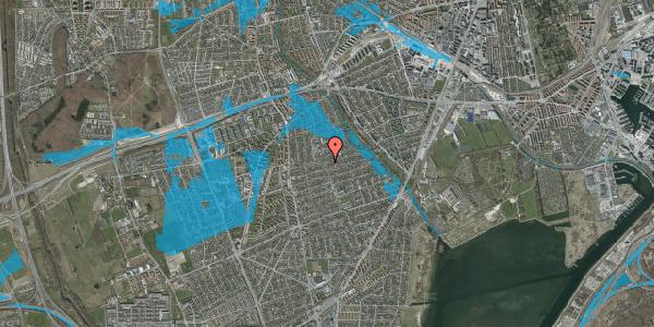 Oversvømmelsesrisiko fra vandløb på Bjeverskov Alle 36, 2650 Hvidovre