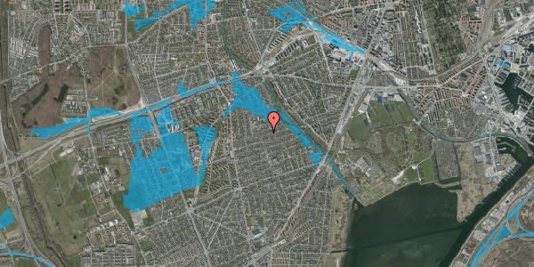 Oversvømmelsesrisiko fra vandløb på Bjeverskov Alle 37, 1. , 2650 Hvidovre