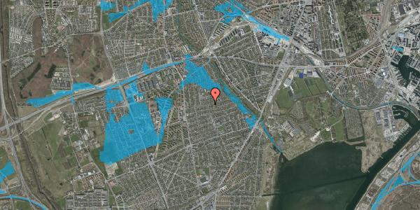 Oversvømmelsesrisiko fra vandløb på Bjeverskov Alle 38, 2650 Hvidovre
