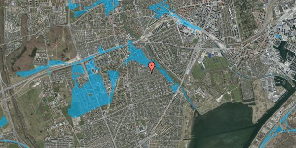 Oversvømmelsesrisiko fra vandløb på Bjeverskov Alle 39, 2650 Hvidovre