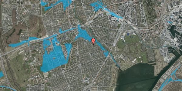 Oversvømmelsesrisiko fra vandløb på Bjeverskov Alle 43, 2650 Hvidovre