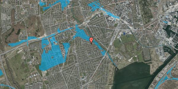 Oversvømmelsesrisiko fra vandløb på Bjeverskov Alle 45, 2650 Hvidovre