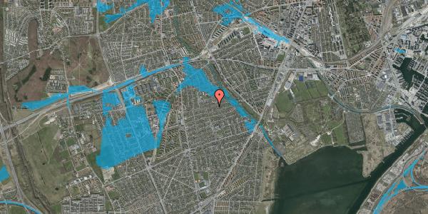 Oversvømmelsesrisiko fra vandløb på Bjeverskov Alle 46, 2650 Hvidovre