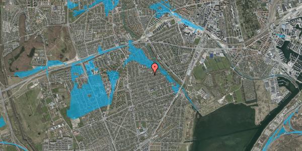 Oversvømmelsesrisiko fra vandløb på Bjeverskov Alle 48, 2650 Hvidovre