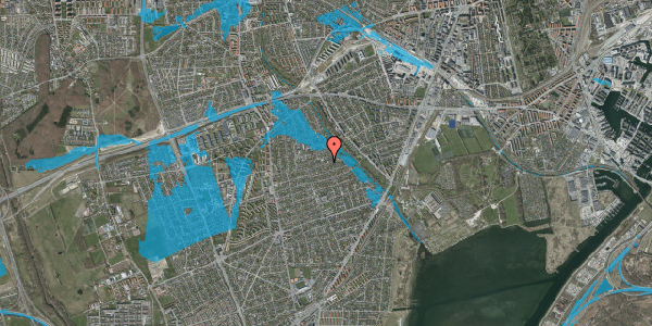 Oversvømmelsesrisiko fra vandløb på Bjeverskov Alle 49, 2650 Hvidovre