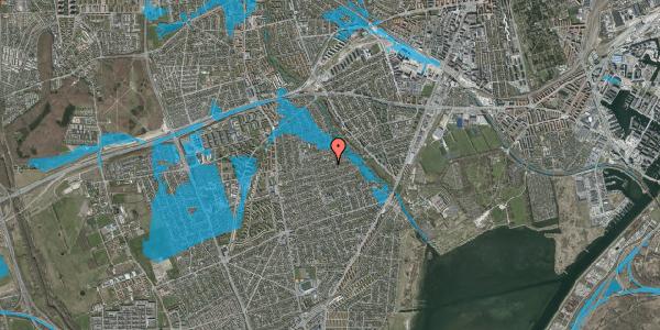 Oversvømmelsesrisiko fra vandløb på Bjeverskov Alle 50, 2650 Hvidovre