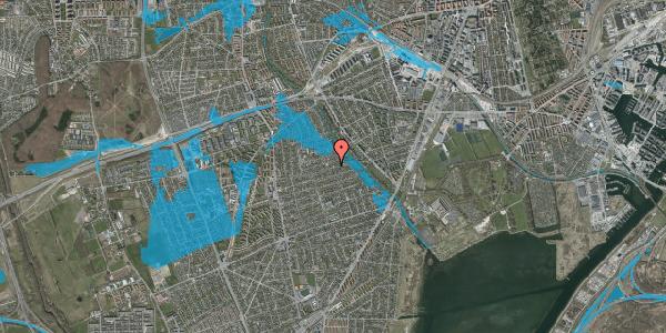 Oversvømmelsesrisiko fra vandløb på Bjeverskov Alle 51, 2650 Hvidovre