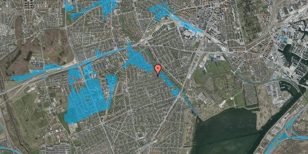 Oversvømmelsesrisiko fra vandløb på Bjeverskov Alle 53, 2650 Hvidovre