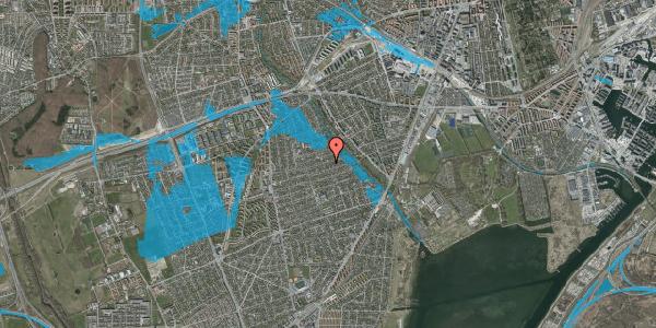 Oversvømmelsesrisiko fra vandløb på Bjeverskov Alle 54, 2650 Hvidovre