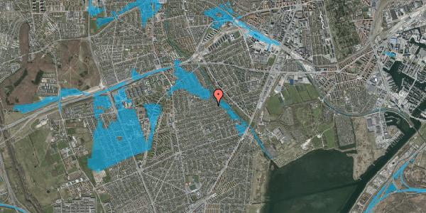 Oversvømmelsesrisiko fra vandløb på Bjeverskov Alle 55, 2650 Hvidovre