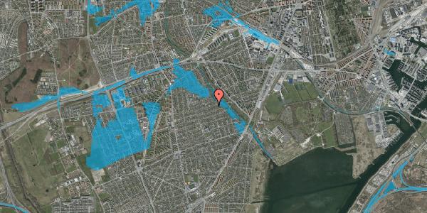 Oversvømmelsesrisiko fra vandløb på Bjeverskov Alle 58, 2650 Hvidovre