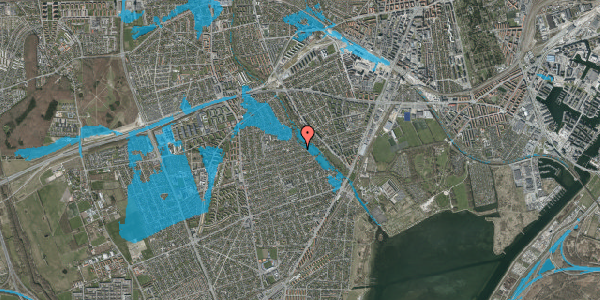 Oversvømmelsesrisiko fra vandløb på Bjeverskov Alle 59, 2650 Hvidovre