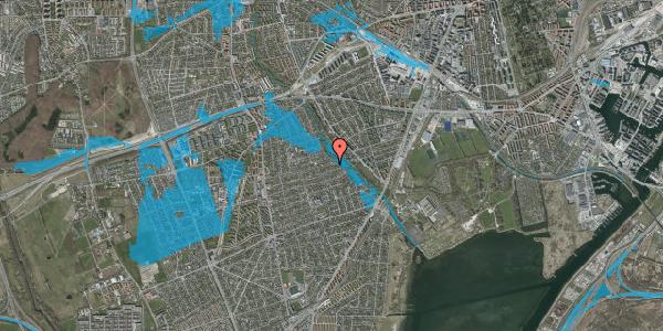 Oversvømmelsesrisiko fra vandløb på Bjeverskov Alle 62, 2650 Hvidovre