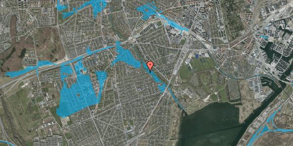 Oversvømmelsesrisiko fra vandløb på Bjeverskov Alle 64, 2650 Hvidovre