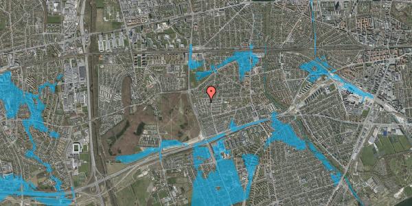 Oversvømmelsesrisiko fra vandløb på Bliskær 7, 2650 Hvidovre