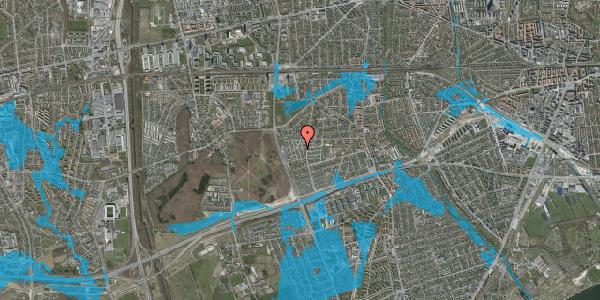 Oversvømmelsesrisiko fra vandløb på Bliskær 13, 2650 Hvidovre