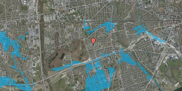 Oversvømmelsesrisiko fra vandløb på Bliskær 14, 2650 Hvidovre