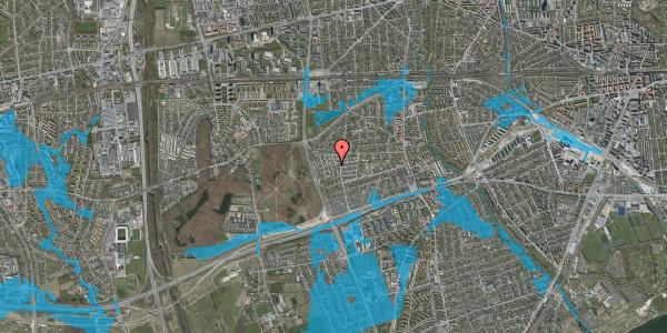 Oversvømmelsesrisiko fra vandløb på Bliskær 15, 2650 Hvidovre