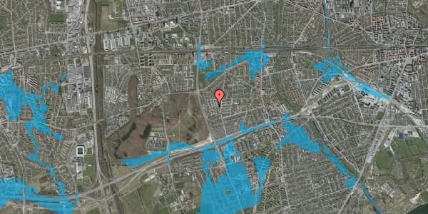 Oversvømmelsesrisiko fra vandløb på Bliskær 16, 2650 Hvidovre