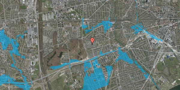 Oversvømmelsesrisiko fra vandløb på Bliskær 17, 2650 Hvidovre