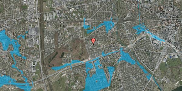 Oversvømmelsesrisiko fra vandløb på Bliskær 20, 2650 Hvidovre