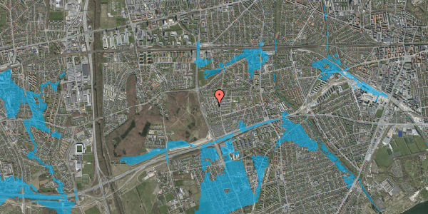 Oversvømmelsesrisiko fra vandløb på Bliskær 22, 2650 Hvidovre