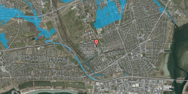 Oversvømmelsesrisiko fra vandløb på Blytækkerporten 1, 2650 Hvidovre
