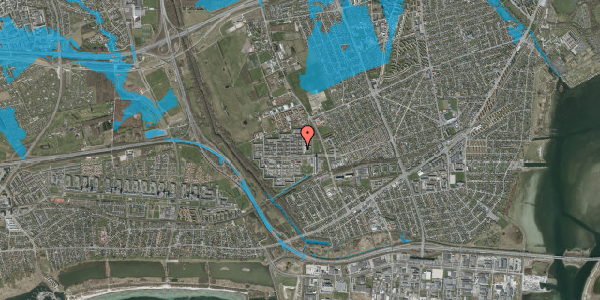Oversvømmelsesrisiko fra vandløb på Blytækkerporten 9, 2650 Hvidovre