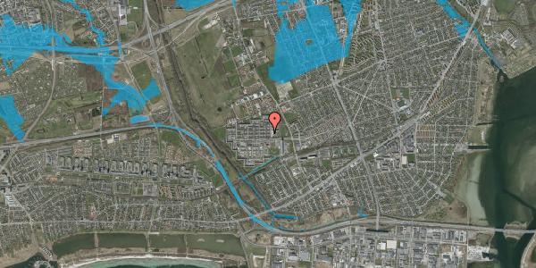 Oversvømmelsesrisiko fra vandløb på Blytækkerporten 11, 2650 Hvidovre
