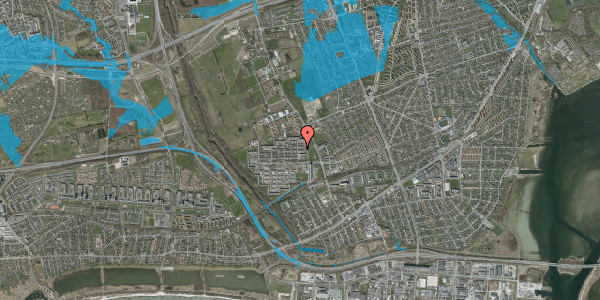 Oversvømmelsesrisiko fra vandløb på Blytækkerporten 12, 2650 Hvidovre