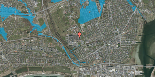 Oversvømmelsesrisiko fra vandløb på Blytækkerporten 15A, 2650 Hvidovre