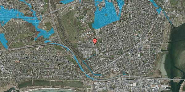 Oversvømmelsesrisiko fra vandløb på Blytækkerporten 21, 2650 Hvidovre