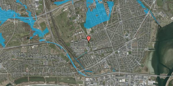 Oversvømmelsesrisiko fra vandløb på Blytækkerporten 22, 2650 Hvidovre