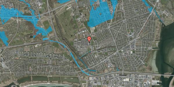 Oversvømmelsesrisiko fra vandløb på Blytækkerporten 25, 2650 Hvidovre