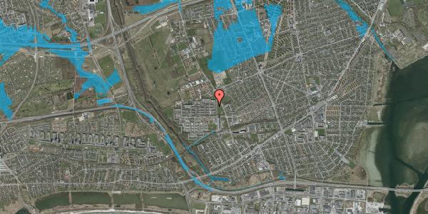 Oversvømmelsesrisiko fra vandløb på Blytækkerporten 28, 2650 Hvidovre