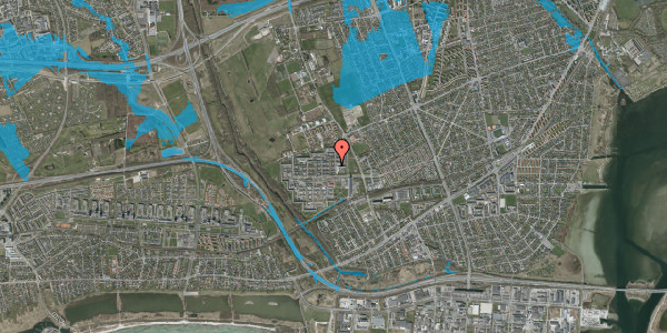 Oversvømmelsesrisiko fra vandløb på Blytækkerporten 35, 2650 Hvidovre