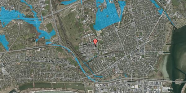 Oversvømmelsesrisiko fra vandløb på Blytækkerporten 55A, 2650 Hvidovre