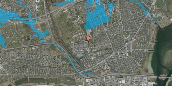 Oversvømmelsesrisiko fra vandløb på Blytækkerporten 66B, 2650 Hvidovre