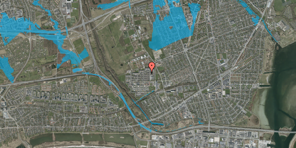 Oversvømmelsesrisiko fra vandløb på Blytækkerporten 83A, 2650 Hvidovre