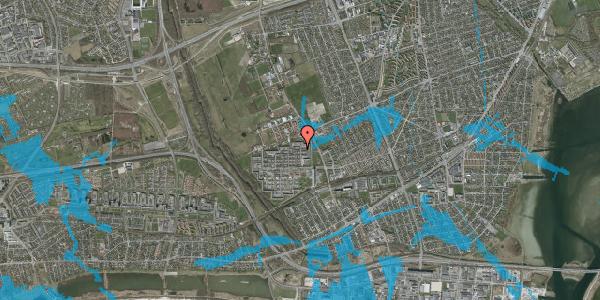 Oversvømmelsesrisiko fra vandløb på Blytækkerporten 105A, 2650 Hvidovre