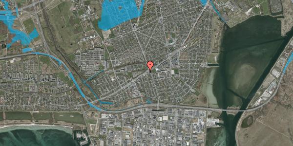 Oversvømmelsesrisiko fra vandløb på Gammel Køge Landevej 471, 2650 Hvidovre