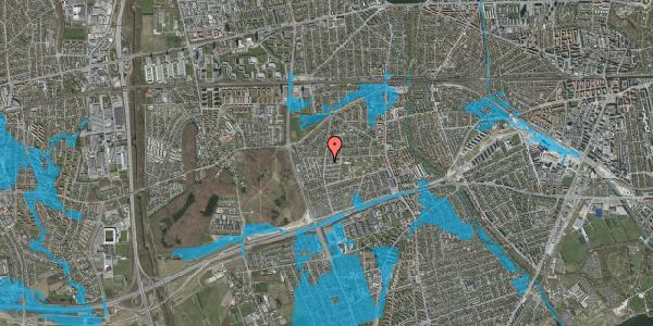 Oversvømmelsesrisiko fra vandløb på Rebæk Alle 57, 2650 Hvidovre