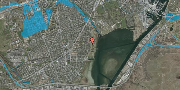 Oversvømmelsesrisiko fra vandløb på Søndre Kystagervej 29A, 2650 Hvidovre