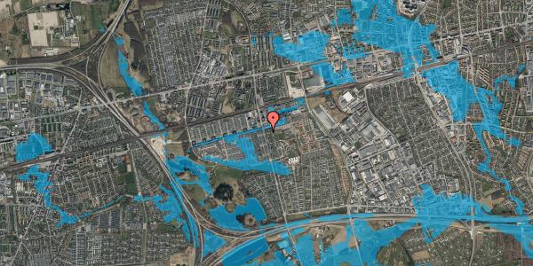 Oversvømmelsesrisiko fra vandløb på Albertslundvej 55, st. tv, 2625 Vallensbæk