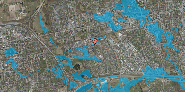 Oversvømmelsesrisiko fra vandløb på Albertslundvej 59, st. th, 2625 Vallensbæk