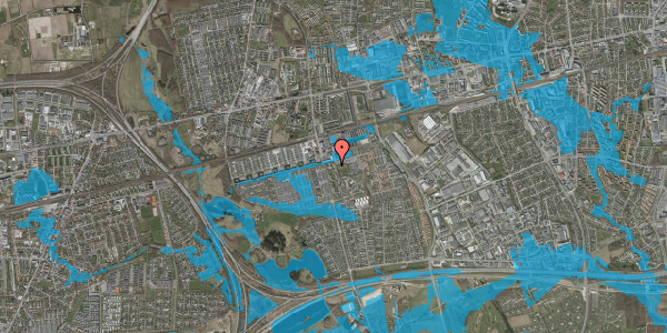 Oversvømmelsesrisiko fra vandløb på Albertslundvej 67, 2. tv, 2625 Vallensbæk