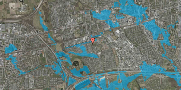 Oversvømmelsesrisiko fra vandløb på Albertslundvej 71, 2. th, 2625 Vallensbæk