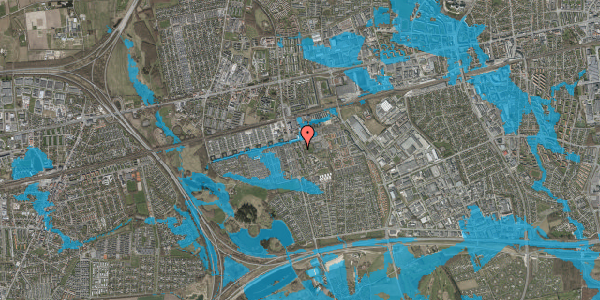 Oversvømmelsesrisiko fra vandløb på Albertslundvej 77, 1. th, 2625 Vallensbæk
